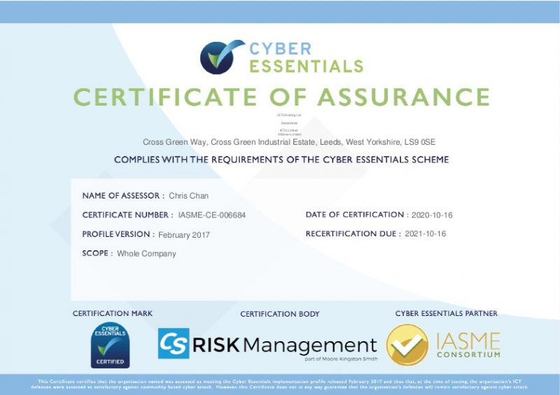 Cyber Essentials Accreditation